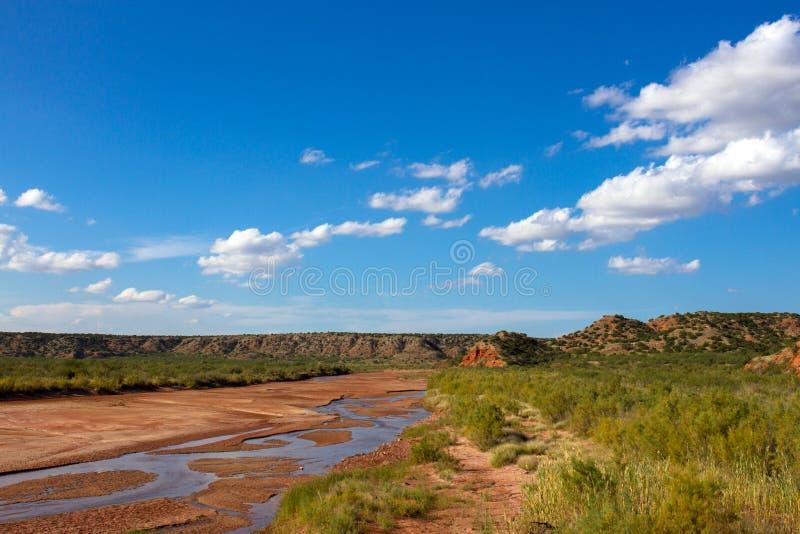 Gaffel för stad för präriehund av Redet River arkivfoto