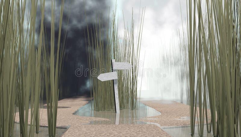 Gaffel i vägen vektor illustrationer