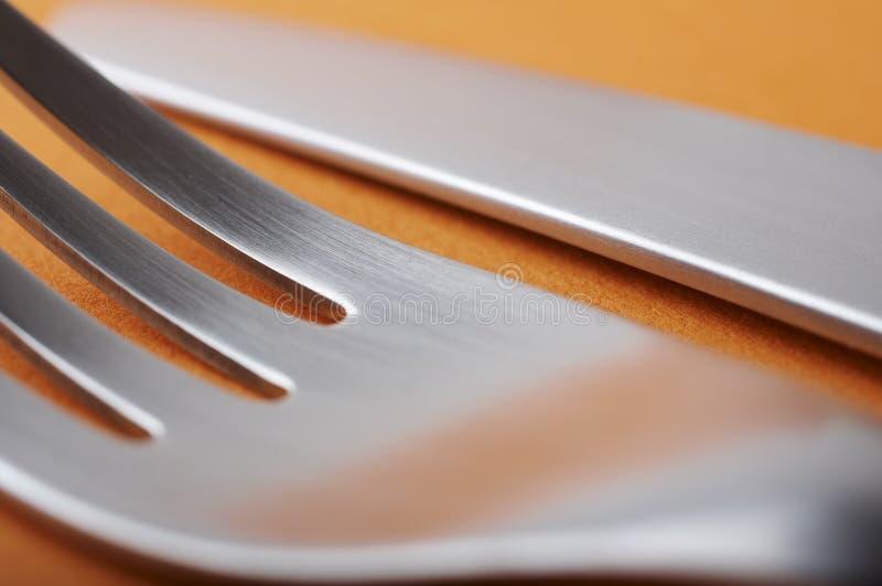 gaffelkniv arkivbilder