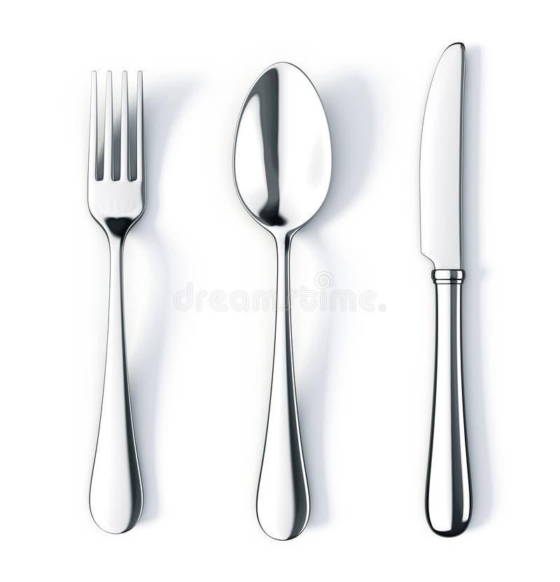 gaffelknivsked stock illustrationer