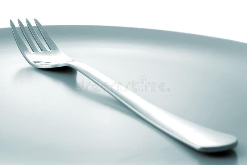 Download Gaffelplatta arkivfoto. Bild av bestick, metall, äta, lunch - 519516