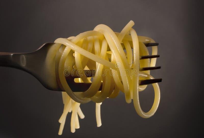gaffelspagetti arkivbild