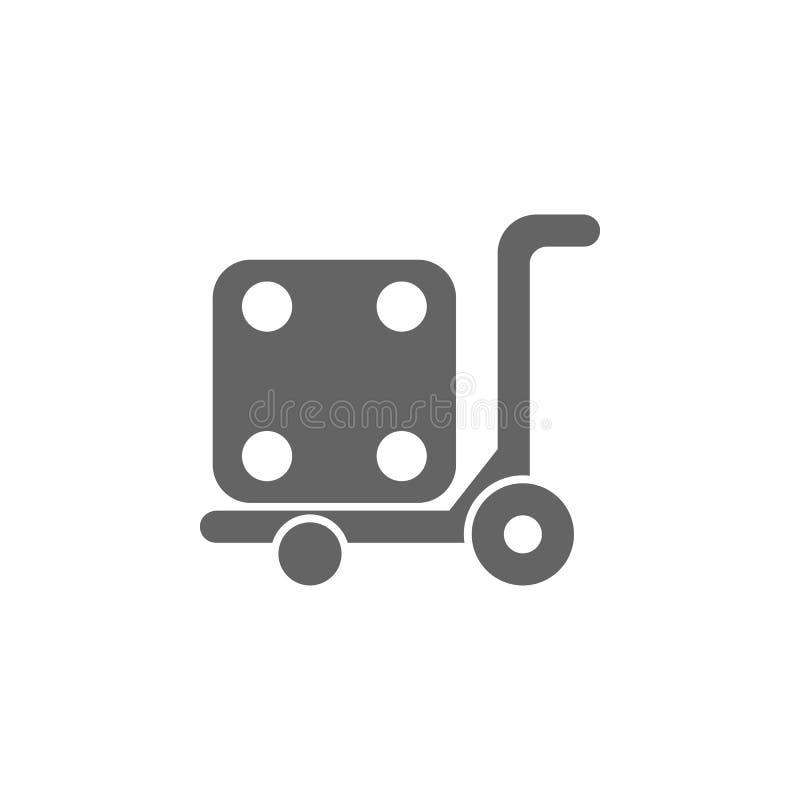 Gaffeltruck som är logistisk, pumplastbilsymbol Best?ndsdel av den enkla transportsymbolen H?gv?rdig kvalitets- symbol f?r grafis vektor illustrationer
