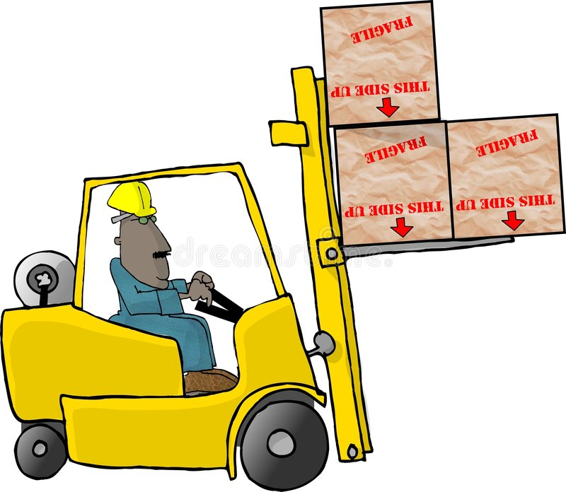 Download Gaffeltruckoperatör stock illustrationer. Bild av män, cartoon - 34163