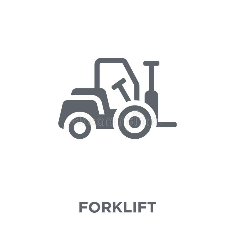 Gaffeltrucksymbol från leverans och logistisk samling vektor illustrationer