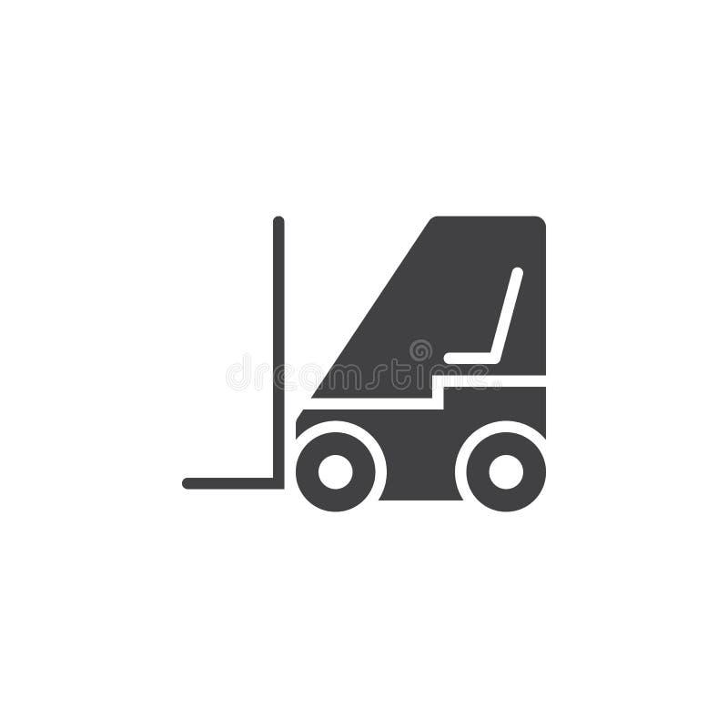 gaffeltrucksymbol, illustration för logo för elevatorlastbil fast, pictog royaltyfri illustrationer