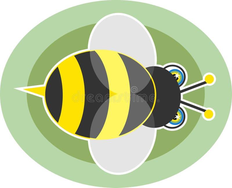 Gaffez l'abeille illustration libre de droits