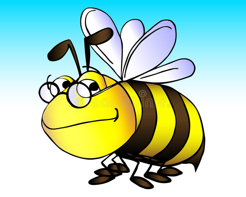 Gaffez l'abeille illustration de vecteur