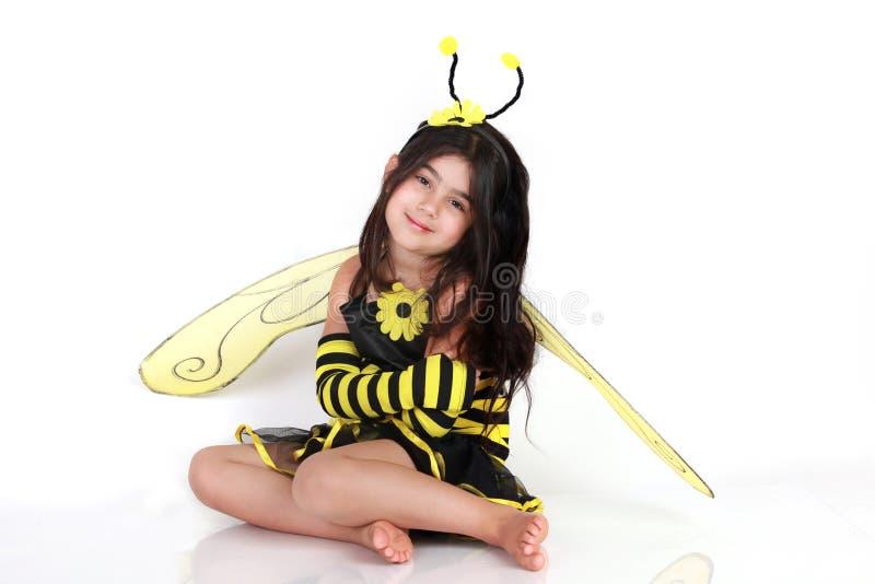 Gaffez le costume d'abeille image libre de droits