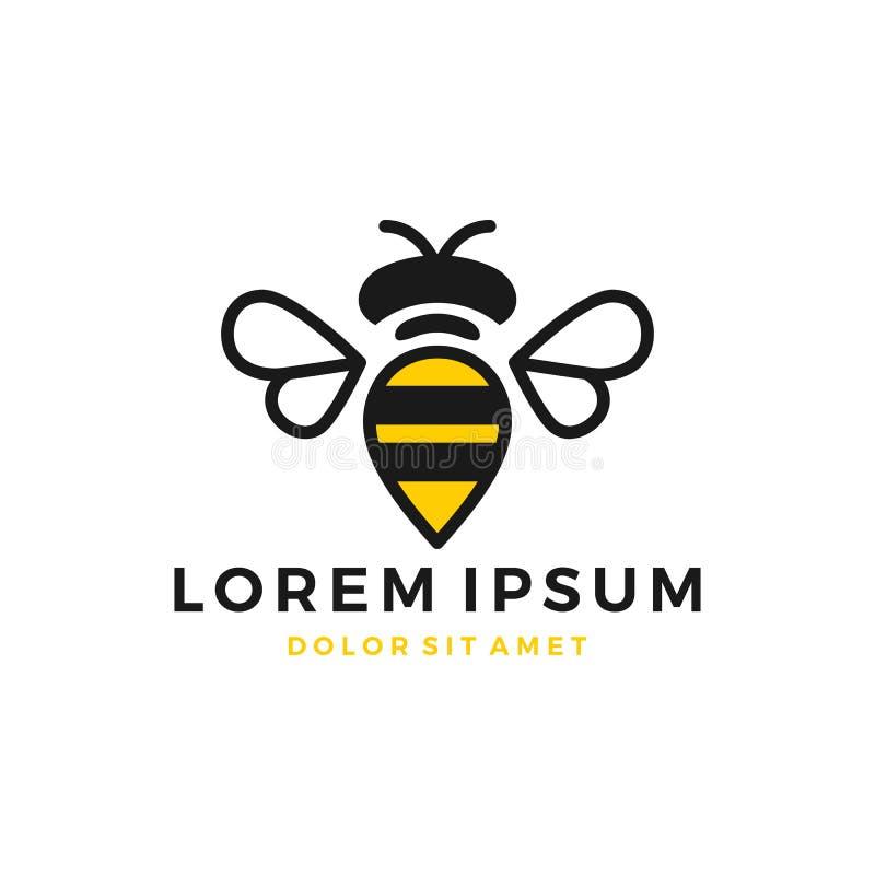 Gaffez le logo d'abeille image stock