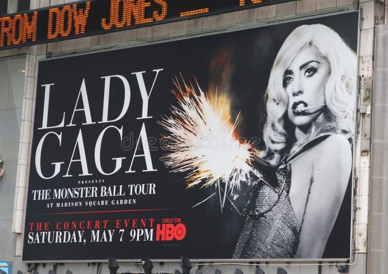 Gaga het overlegaanplakbord van dame stock foto's