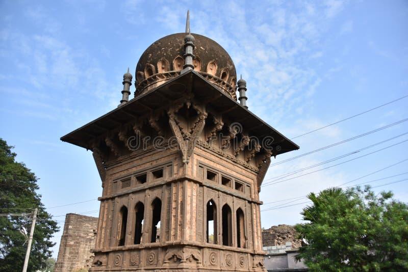 Gagan玛哈尔宫殿, Bijapur,卡纳塔克邦,印度 免版税库存图片