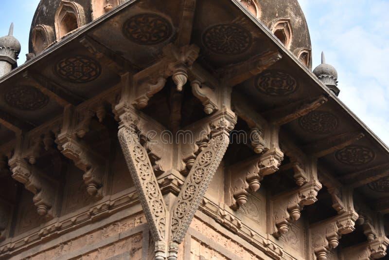 Gagan玛哈尔宫殿, Bijapur,卡纳塔克邦,印度 免版税库存照片
