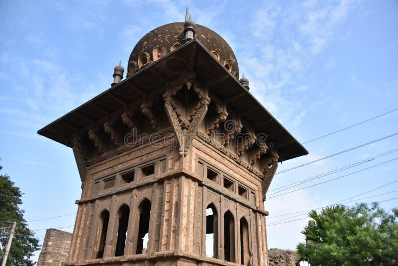 Gagan玛哈尔宫殿, Bijapur,卡纳塔克邦,印度 库存照片