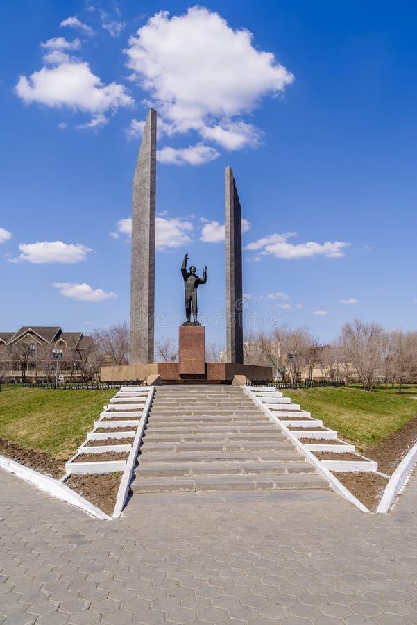 gagarin monument till arkivbilder
