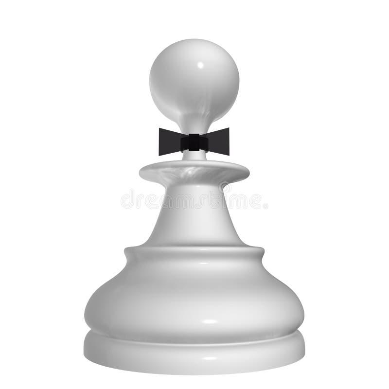 Gage blanc illustration de vecteur