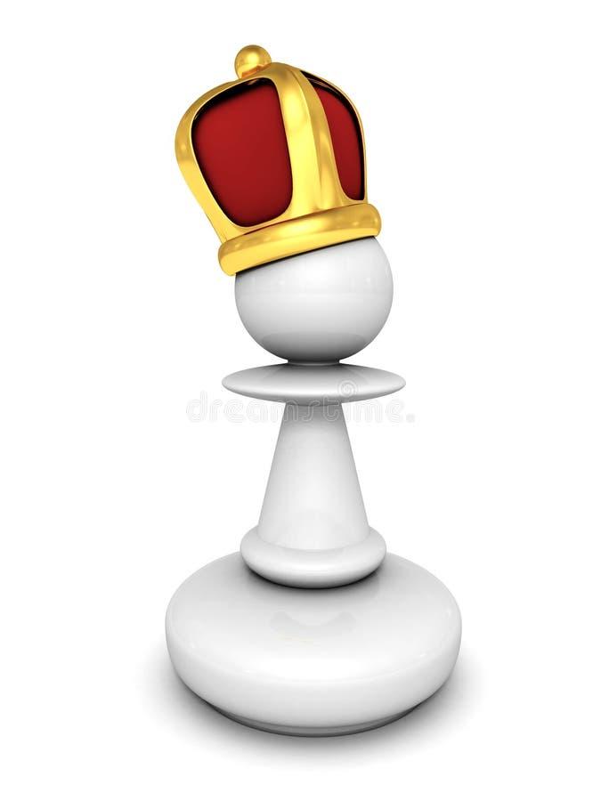 Gage blanc avec une couronne de roi illustration stock
