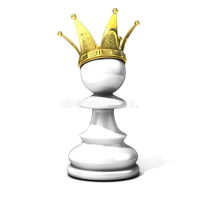 Gage blanc avec une tête d'or illustration libre de droits