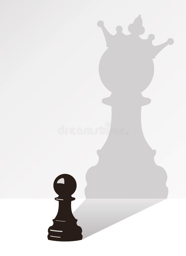 Gage d'échecs avec l'ombre illustration libre de droits