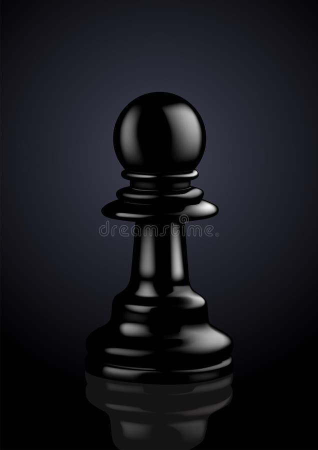 Gage noir d'échecs illustration stock