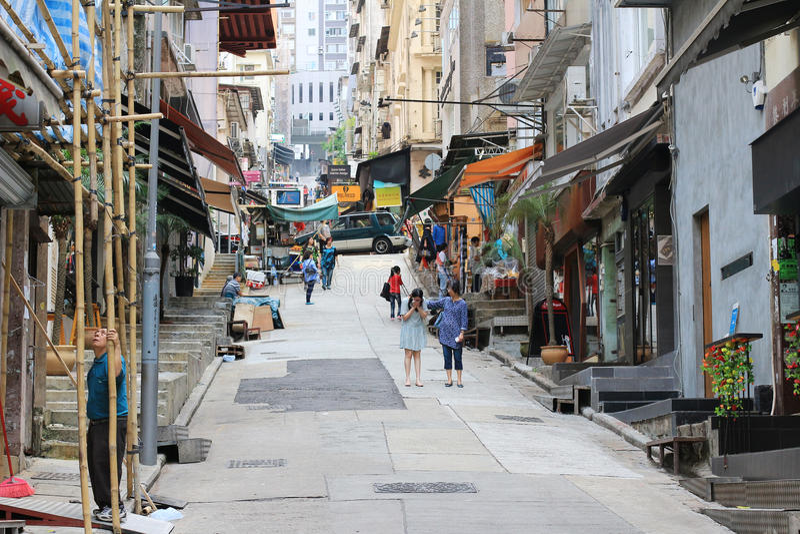 Gage Street, centrale, Hong Kong fotografie stock libere da diritti