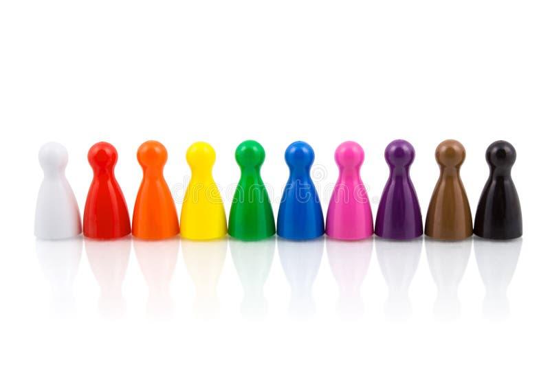 Gages colorés dans un cru photographie stock libre de droits