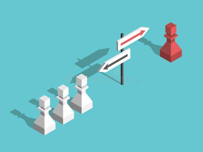 Gages d'échecs, différentes directions illustration stock