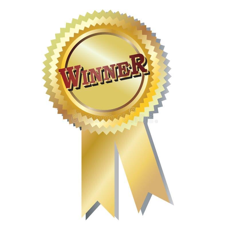 gagnant d'insigne illustration de vecteur