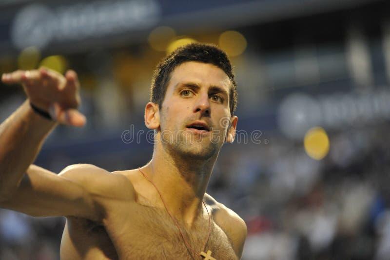 Gagnant de Djokovic Novak de la cuvette 2012 (0) de Rogers images libres de droits