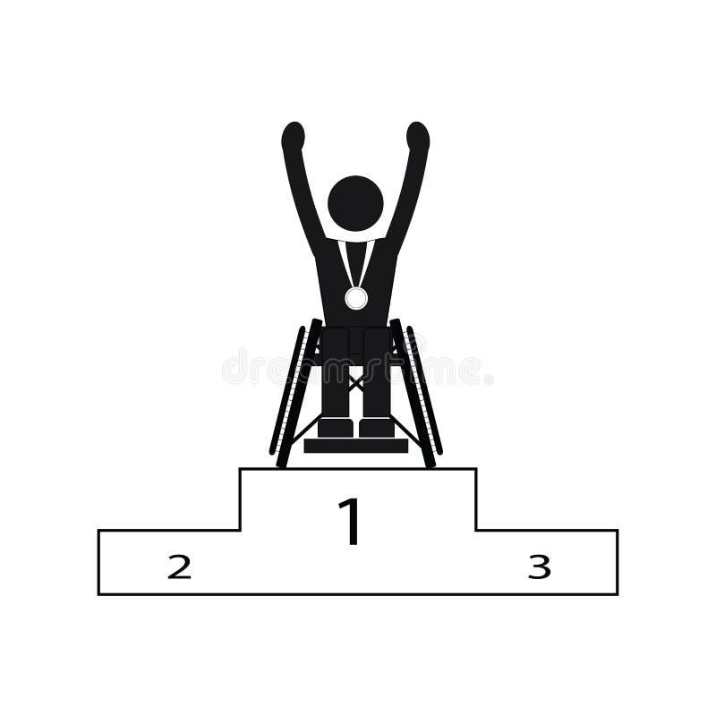 Gagnant de jeux de Paralympic de sport d'handicap de débronchement illustration stock