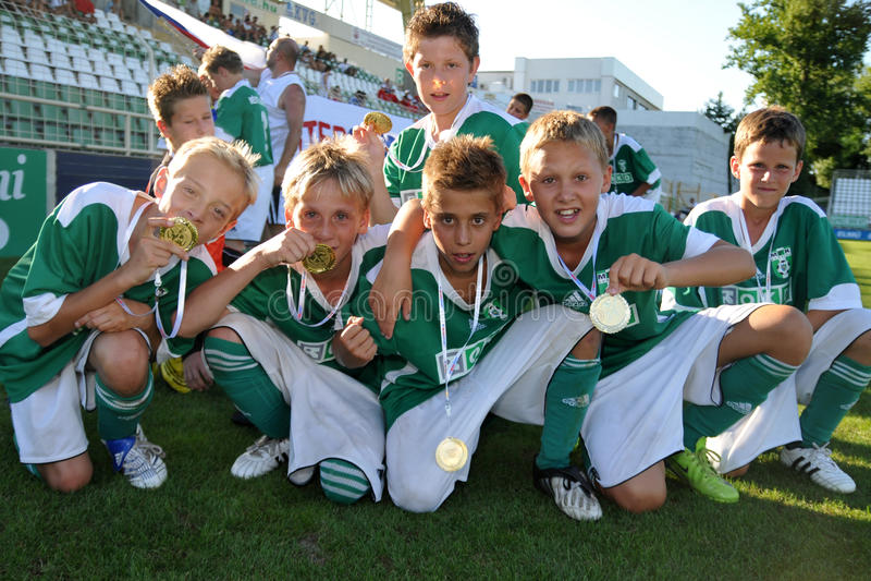 gagnant de joueurs de czeh images libres de droits