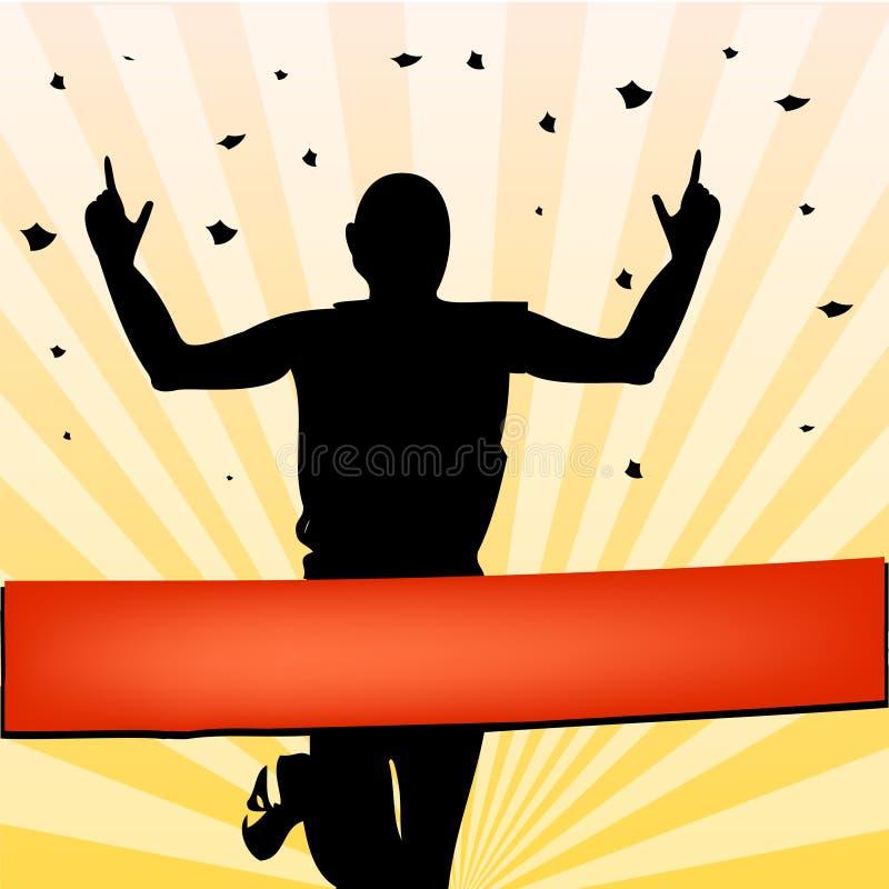 gagnant de marathon illustration de vecteur