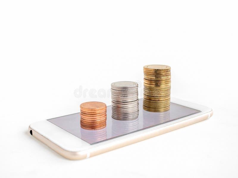 Gagnant l'argent en ligne images stock