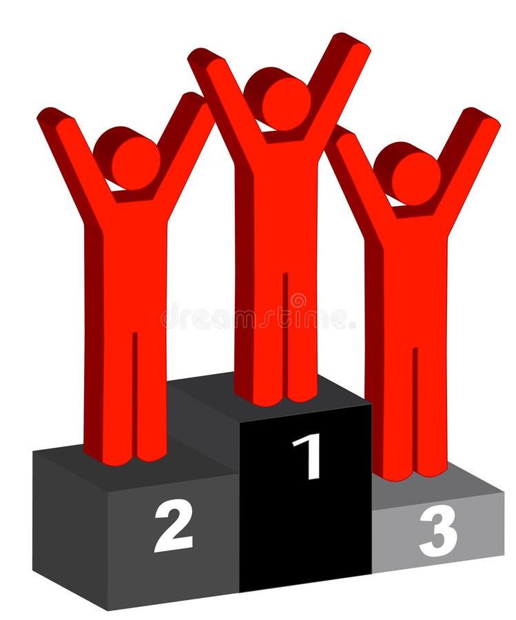 Gagnants illustration stock