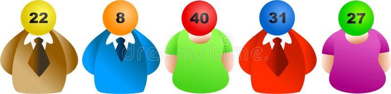 Gagnants de loterie illustration stock