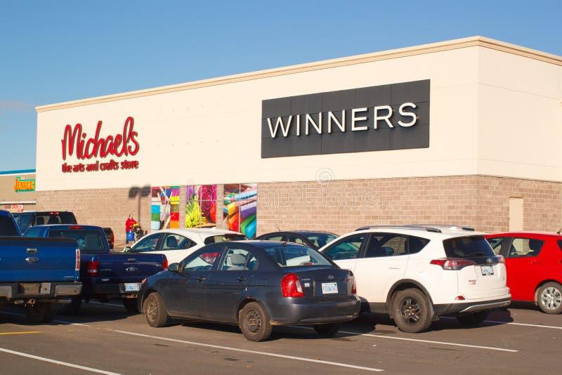 Gagnants et Michaels Storefront photos stock