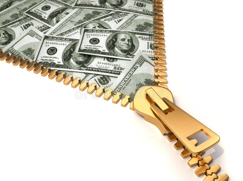 Gagner l'argent illustration de vecteur