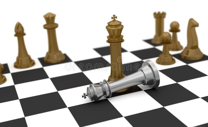 Gagnez et détruisez les échecs illustration libre de droits