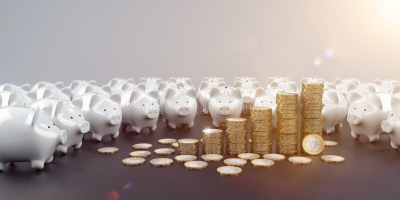 Gagnez l'argent avec Investmens illustration de vecteur