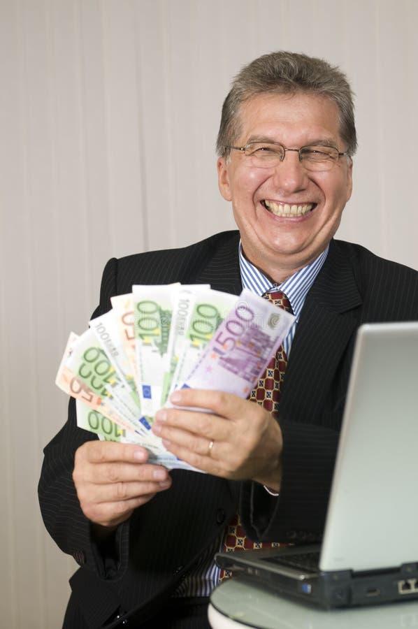 Gagnez l'argent avec l'ordinateur ! photographie stock
