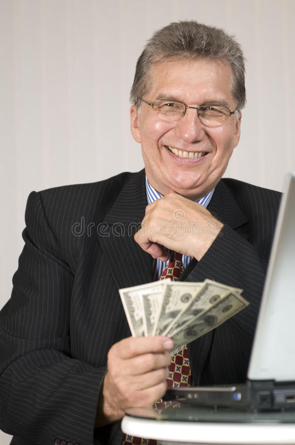 Gagnez l'argent avec l'ordinateur ! photo stock