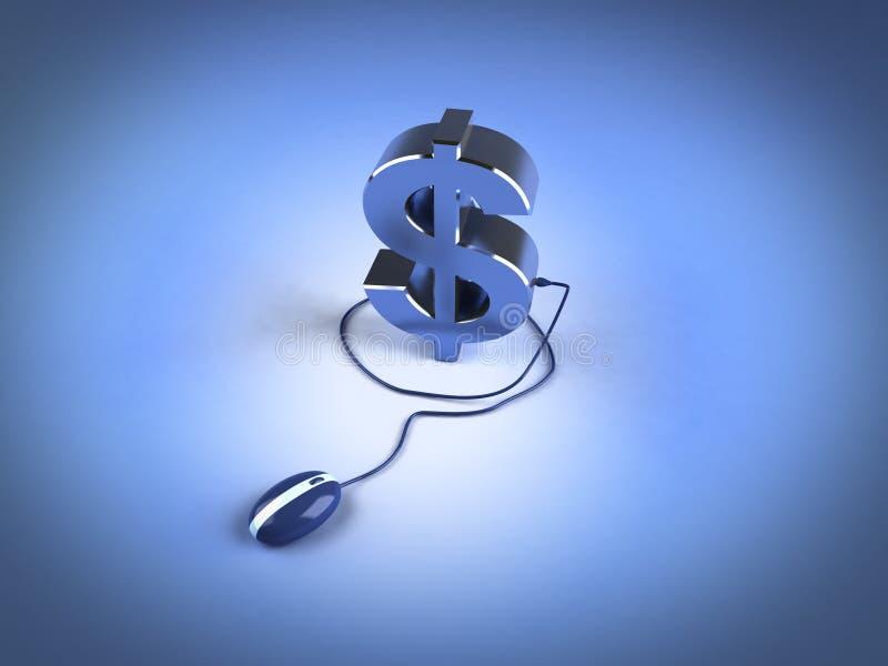 Gagnez l'argent en ligne illustration de vecteur