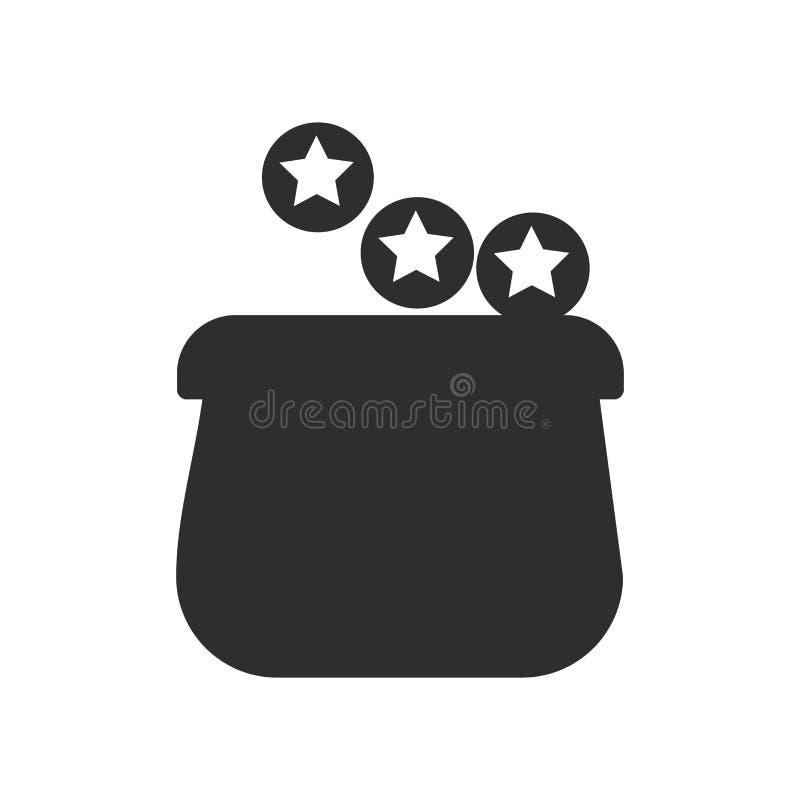 Gagnez le signe de vecteur d'icône d'argent et le symbole d'isolement sur le fond blanc, gagnent le concept de logo d'argent illustration stock