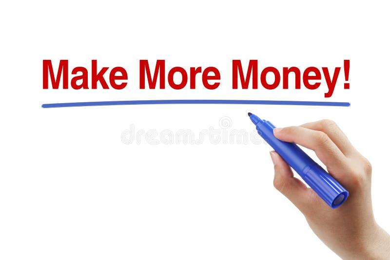 Gagnez plus d'argent photographie stock