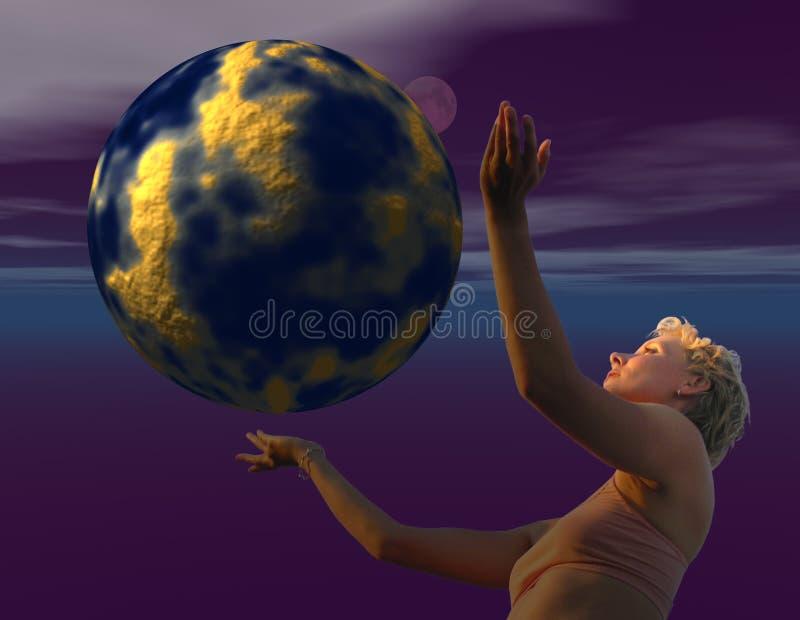 Gaia e mundo ilustração do vetor