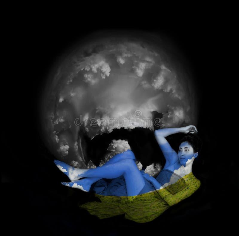 Gaia - geest van de aarde royalty-vrije stock fotografie