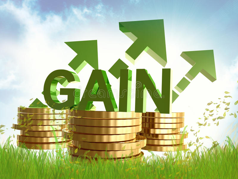 Download Gain And Profitable Gold Coins Symbol Stock Illustration - Image: 14078177