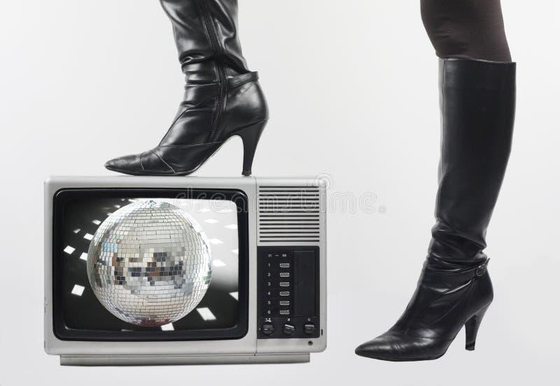 Gaine et TV image libre de droits