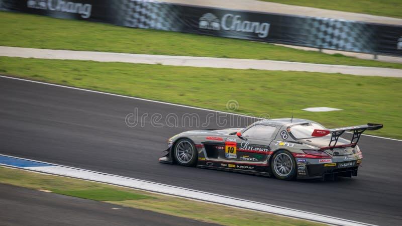 GAINER RN-Sporten SLS van GAINER in GT300-Rassen in Burirum, Thaila royalty-vrije stock foto