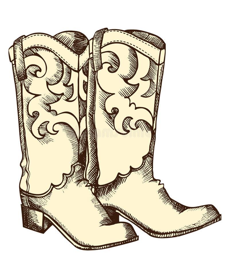 Gaines de cowboy. illustration de vecteur